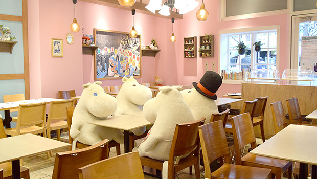 moomin cafeの店舗紹介ページ